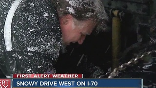 Snowy drive west on I-70 - Video