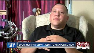 Local musician using talent to help Puerto Rico - Video