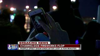 Channelside fireworks a flop, several upset show ends within minutes - Video
