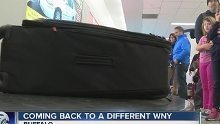 Thousands return home to western New York - Video