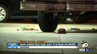 Man arrested in gas station murder - Video