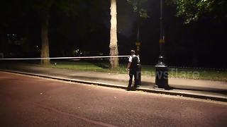 Police cordon scene of attack outside Buckingham Palace - Video