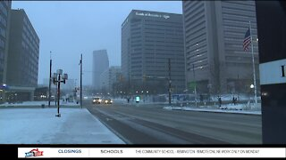 Baltimore City tackles snow storm on Sunday