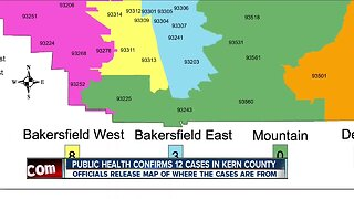 Kern County Public Health releases map of confirmed COVID-19 cases