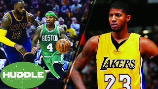 Will the Cavs SWEEP the Celtics? Should the Lakers Trade for Paul George? -The Huddle