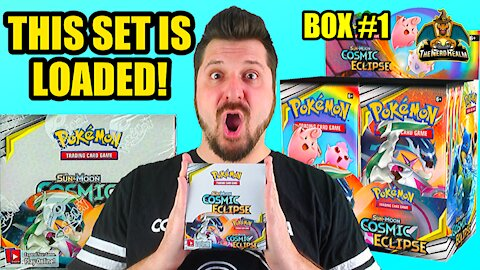 Cosmic Eclipse Booster Case (Box 1) | Charizard Hunting | Pokemon Opening