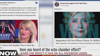 How the 'echo chamber' effect impacts what you see on Facebook - Video