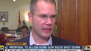 Mount Airy Town Council votes against residential gun ordinance - Video