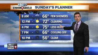 Cooler and less humid Sunday - Video