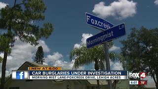 Burglars ransack cars in quiet Lehigh Acres neighborhood - Video