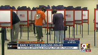 Early voters discuss issues up for voteo - Video