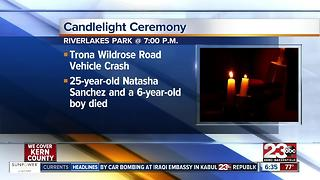 Vigil for 6 year old killed in car accident on Trona Wildrose Road - Video