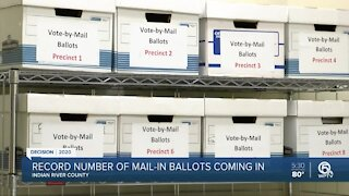 Record number of mail-in ballots submitted in Indian River County