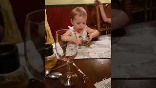 Little Girl Can't Get Enough of Ice Cream - Video