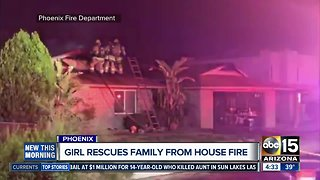 Girl helps family escape from Phoenix house fire