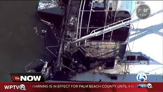 Vero Beach boat fire causes temporary power outage - Video