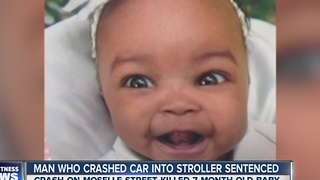 Man who crashed car into stroller sentenced - Video