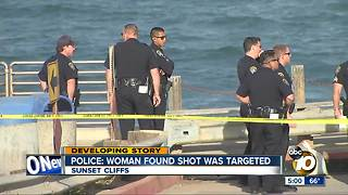 Woman with gunshot wounds found in Sunset Cliffs area