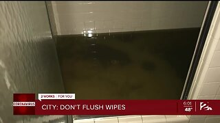 Tulsa warns residents not to flush wipes, paper towels