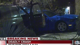 Deadly crash near Park Vista and Alta Drive - Video