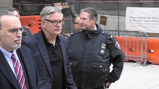 Alec Baldwin Leaving Court After Being Ordered to Anger Management
