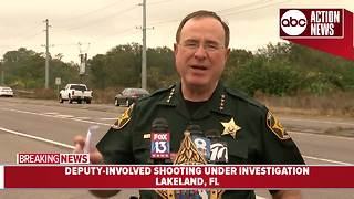 Sheriff Judd News Conference: Polk County Sheriff's Office investigating deputy-involved shooting in Lakeland