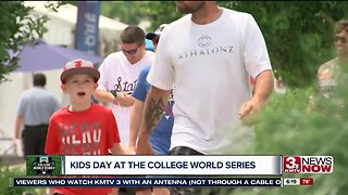 Families enjoy Kids Day at the College World Series