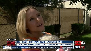 Kristen Bell in Bakersfield to visit Marley's Mutts juvenile dog program