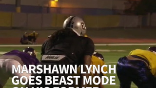 Marshawn Lynch Goes Beast Mode On His Former High School Team - Video