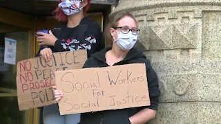 Mental health workers protest new initiative pairing Buffalo police with social workers