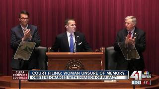 Court filing says woman in Greitens's affair unsure of memory - Video