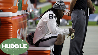 Marshawn Lynch REFUSES to Stand for the National Anthem -The Huddle - Video