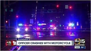 Glendale officer involved in crash with motorcycle