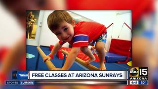 Free baby gymnastics classes at Arizona Sunrays