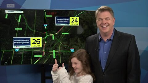 2 Thumbs Up: Traffic anchor Jayson Luber's daughter rates the traffic