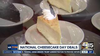 Celebrate National Cheesecake Day with deals! - Video