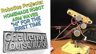 Robotics: Homemade Robot Arm Waving Using Elegoo Stepper Motors, ULN2003 Drivers, and Raspberry Pi