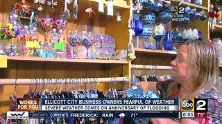 Ellicott City business owners nervous about impending severe weather - Video