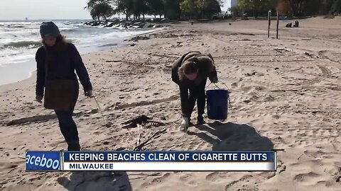 'Hold on to Your Butt' encourages smokers to not toss their cigarettes on the beach