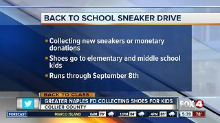 Greater Naples Fire Rescue collecting sneakers for kids - Video