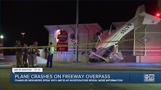 Plane crashes on Loop 202 overpass