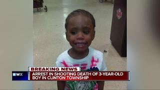 Arrest in shooting death of 3-year-old boy in Clinton Township - Video