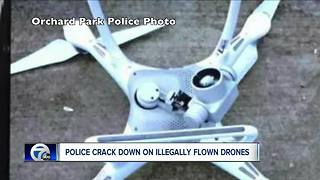 Police crack down on illegally flown drones - Video
