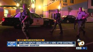 Off-duty Deputy called a hero after shooting - Video
