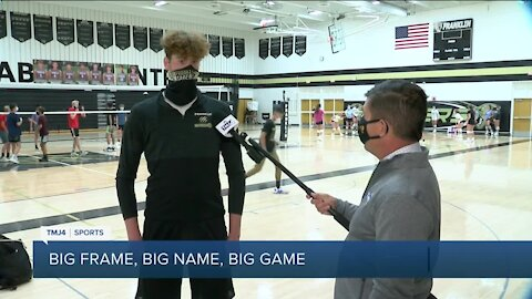 "6'10"" Franklin volleyball star aims for third straight state appearance"
