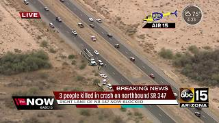 DPS: 3 people dead after crash near Maricopa - Video