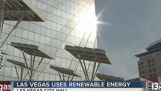 Las Vegas boasts about using renewable energy - Video