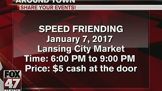 Around Town 1/2/17: Speed Friending at Lansing City Market - Video