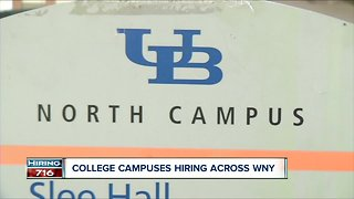 College campuses now hiring