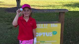 5-Year-Old Golfer Hits Hole-In-One On Par 3 in Noosaville, Australia - Video